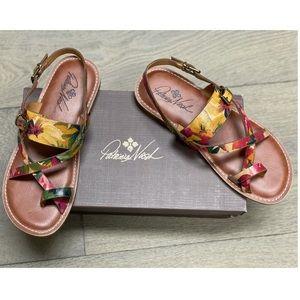 Patricia Nash Fidella Leather Sandal 9.5 NWB!
